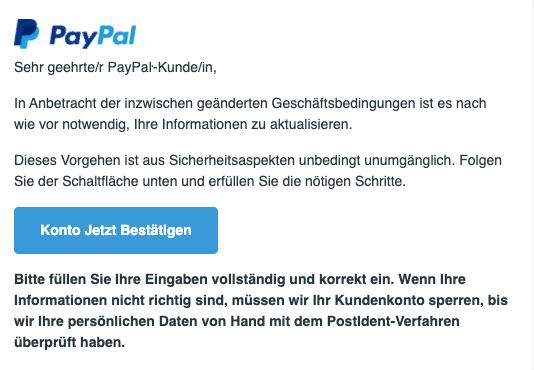 2020-10-06 PayPal SPam Fake-Mail Jetzt РayPаŀ-Konto bestaetigen