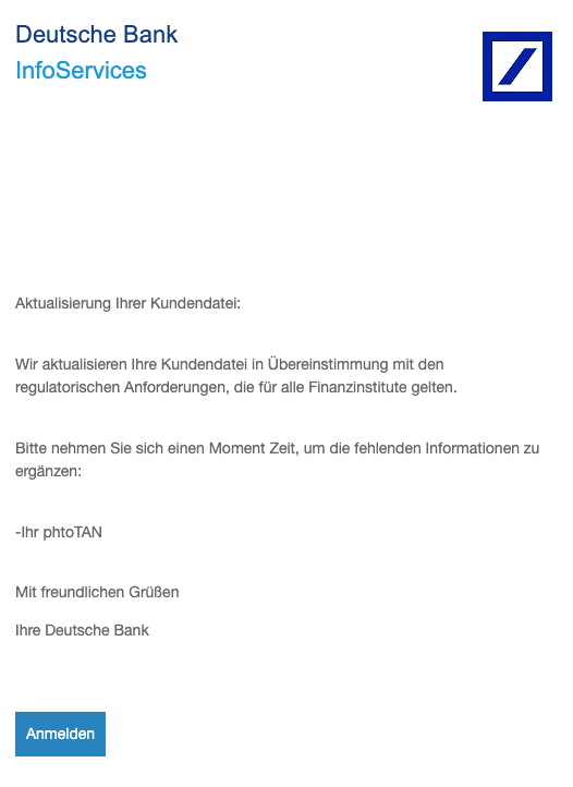 2020-10-12 Deutsche Bank Spam-Mail