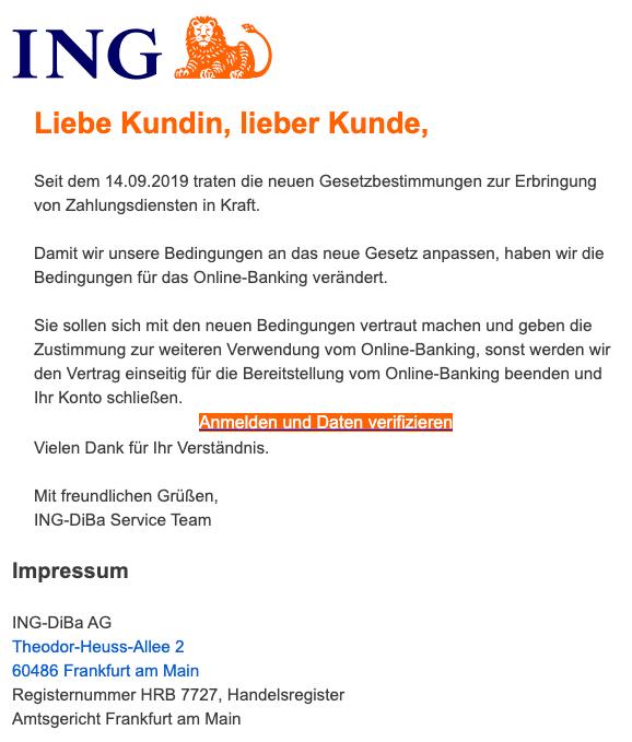 2020-10-14 ING Diba Spam Fake-Mail