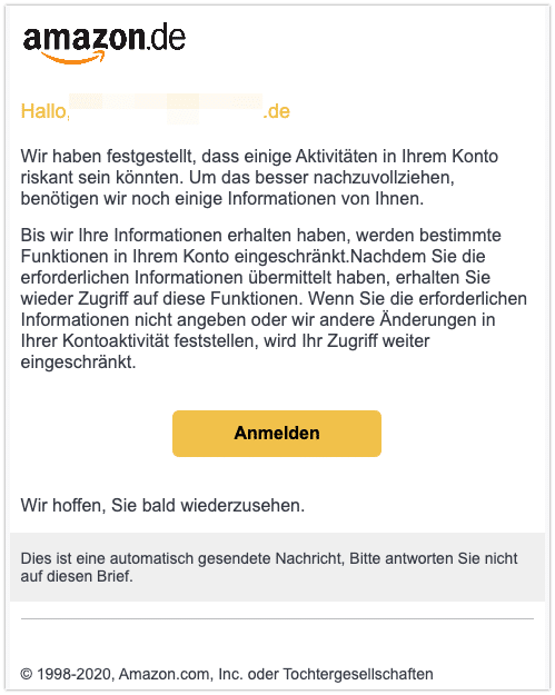 2020-10-21 Phishing Amazon