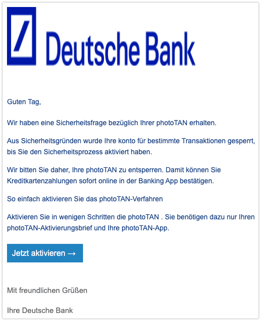 2020-10-21 Phishing Deutsche Bank