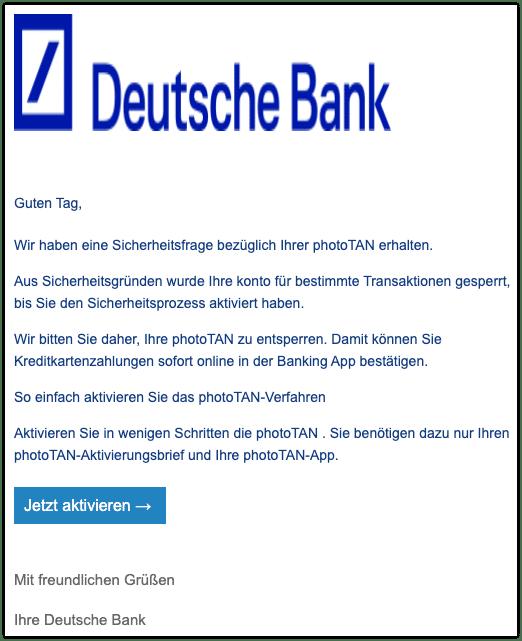 2020-10-21 Phishing Deutsche Bank