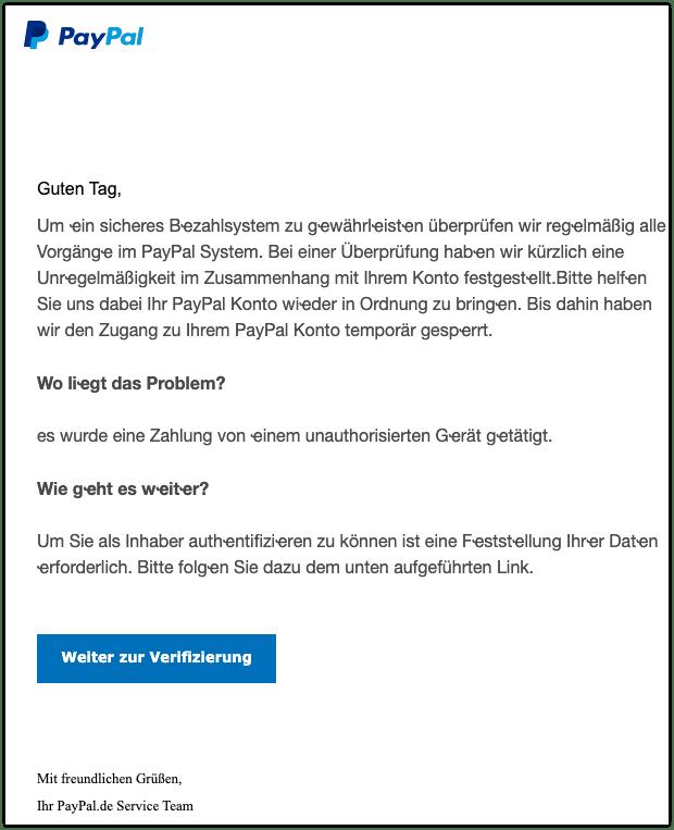 2020-10-21 Phishing PayPal