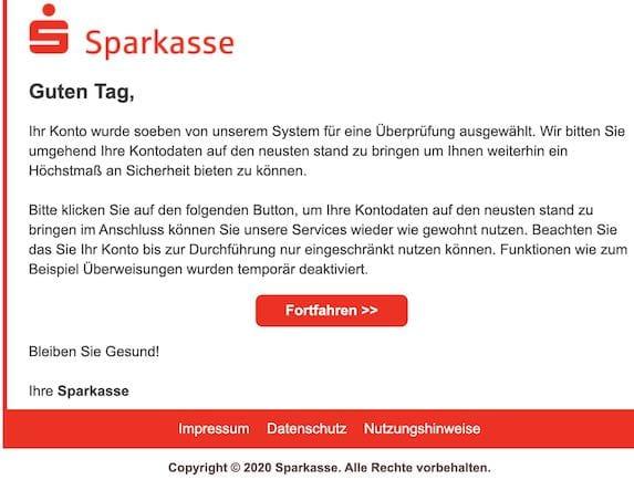 2020-10-22 Sparkasse Phishing