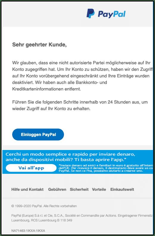 2020-10-28 Phishing PayPal