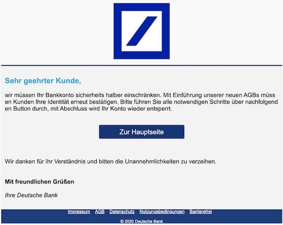 2020-12-07 Deutsche Bank Phishing