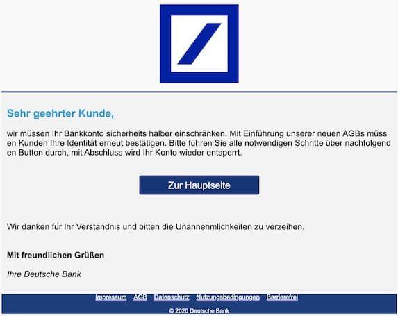 2020-12-07 Deutsche Bank Phishing