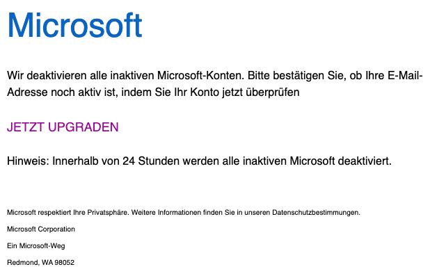 2020-12-18 Microsoft Phishing-Mail