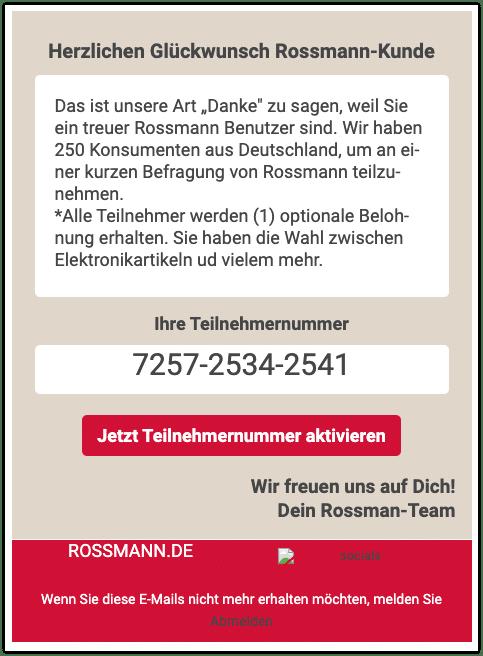 2020-11-14 Spam Rossmann