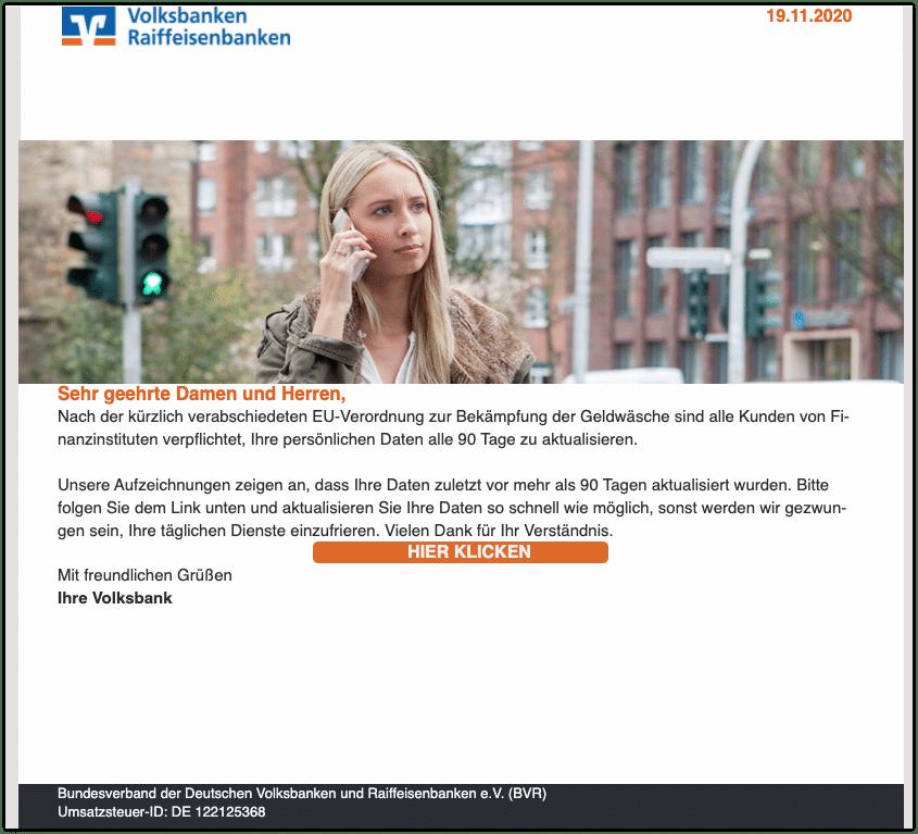 2020-11-20 Phishing Volksbank