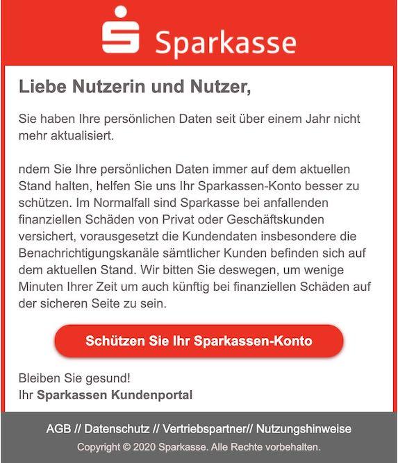 2020-11-20 Sparkasse Phishing