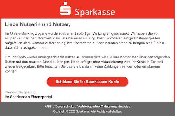 2020-11-23 Sparkasse Phishing