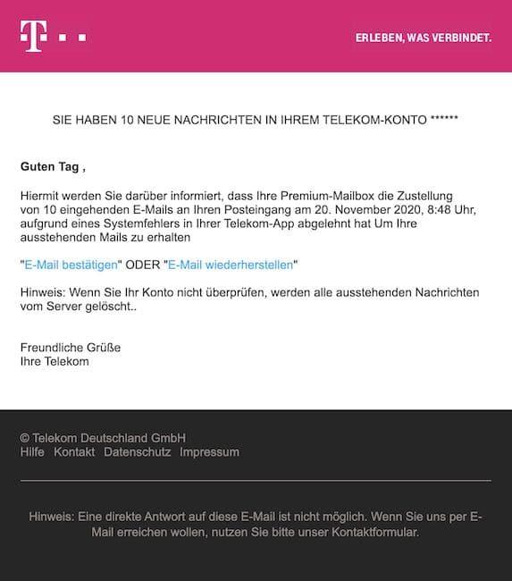 2020-11-23 Telekom Phishing