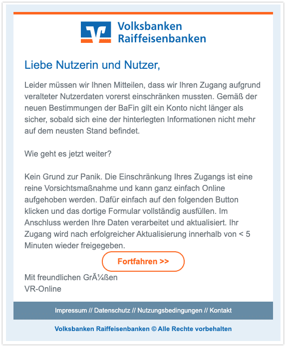 2020-11-26 Phishing Volksbank