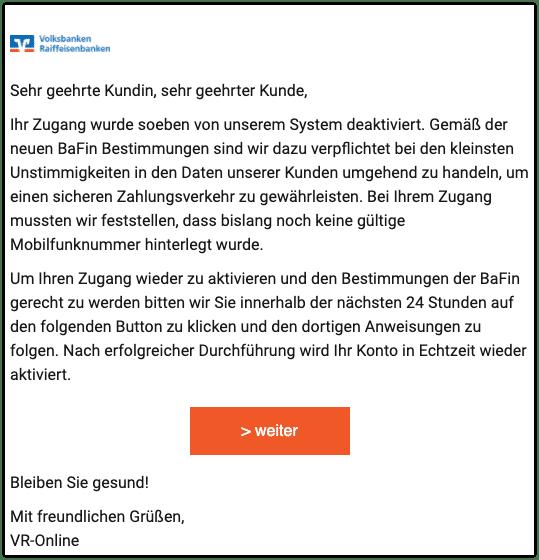 2020-11-27 Phishing Volksbank