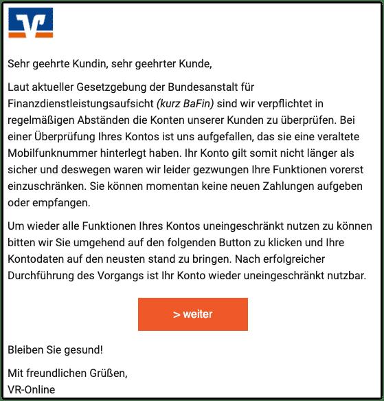 2020-11-30 Phishing Volksbank