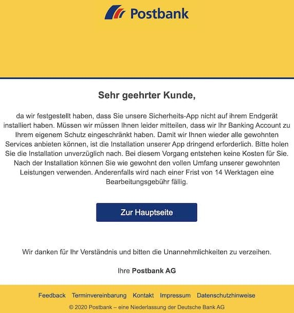 2020-12-01 Postbank Phishing