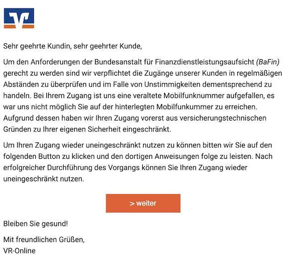 2020-12-02 Volksbank Phishing