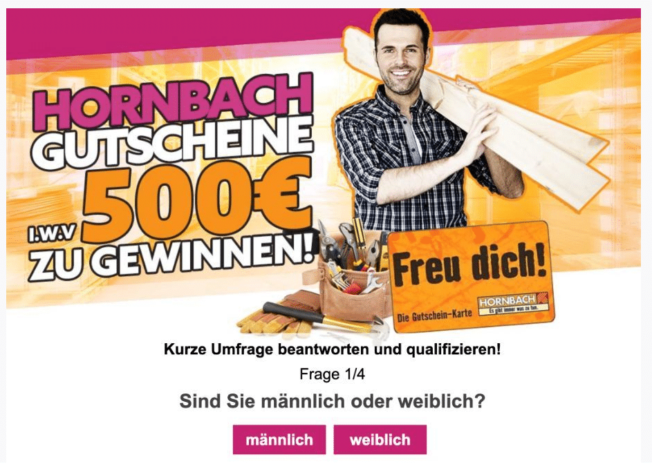 2020-12-23 Hornbach Spam Fake-Mail