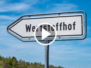 Schild Wertstoffhof