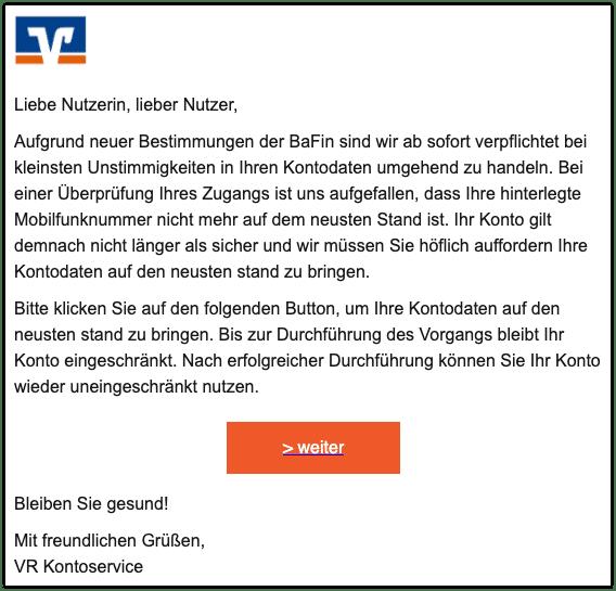 2020-12-09 Phishing Volksbank