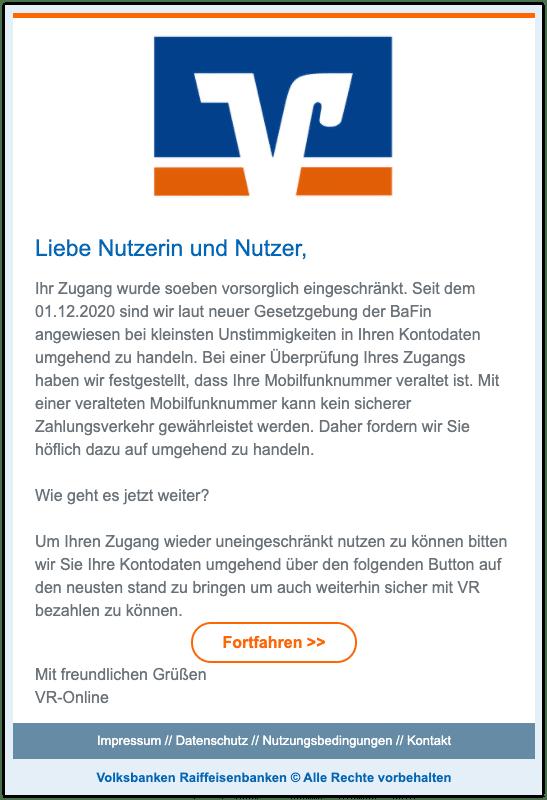 2020-12-10 Phishing Volksbank1