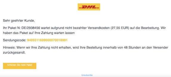 2020-12-16 DHL Spam