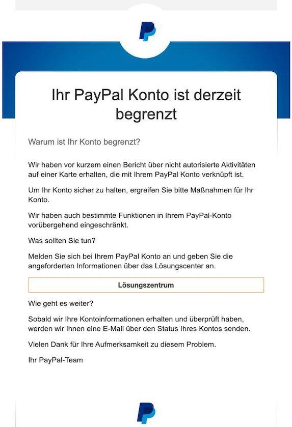 2020-12-16 PayPal Loesungszentrum Spam