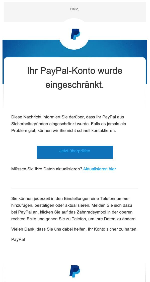 Paypal Fake Melden