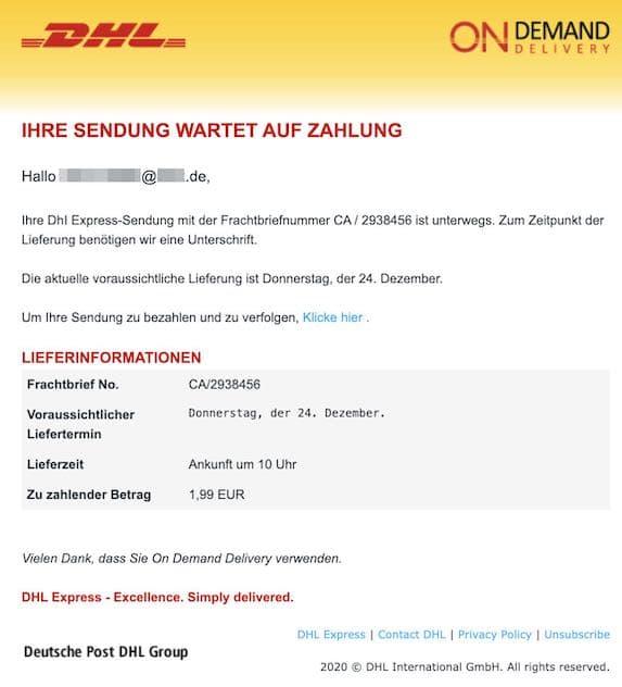 2020-12-23 DHL Spam
