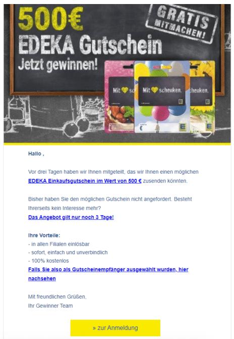 2020-12-26 Edeka Spam-Fake-Mail 500 Euro Gutschein
