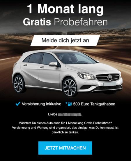 2020-12-26 web-de Wettbewerb Mercedes A-Klasse Probefahrt