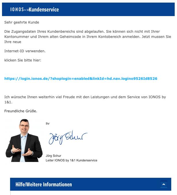 2020-12-28 IONOS 1und1 Spam Fake-Mail