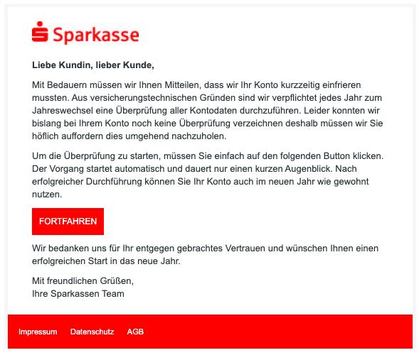 2020-12-30 Sparkasse Spam Fake-Mail Jaehrliche Ueberpruefung