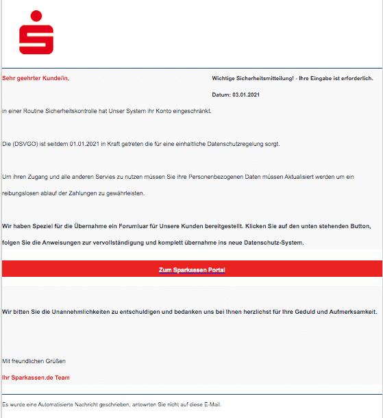 2021-01-03 Phishing Sparkasse