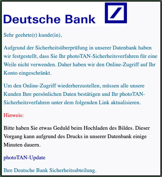 2021-01-04 Phishing Deutsche Bank