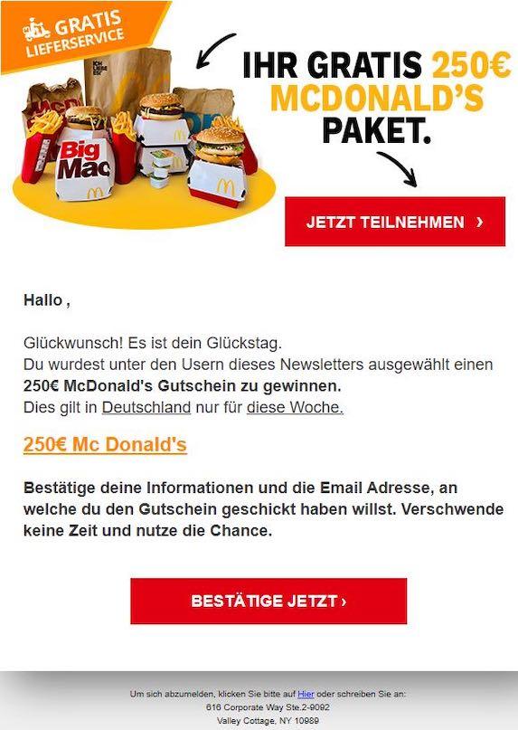 2021-01-05 McDonalds gewinnspiel