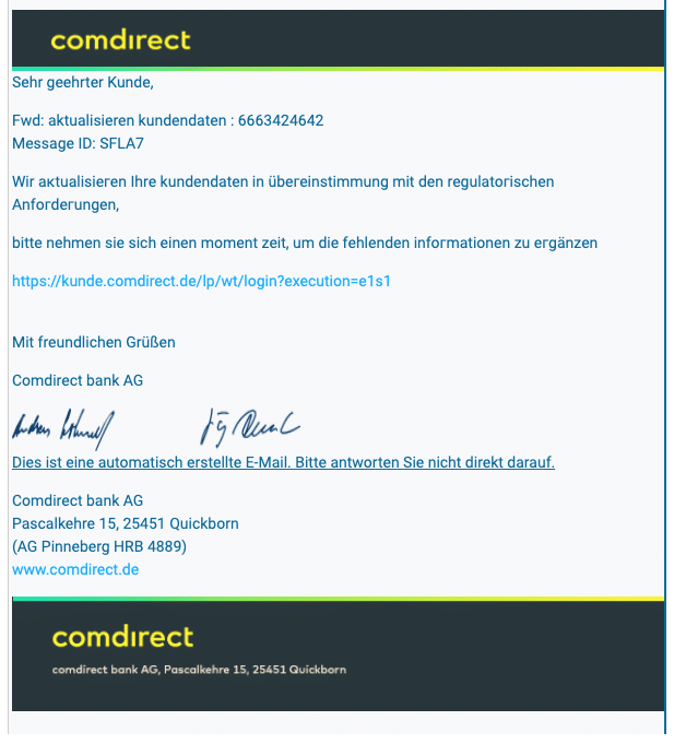 2021-01-06 comdirect Spam Fake-Mail