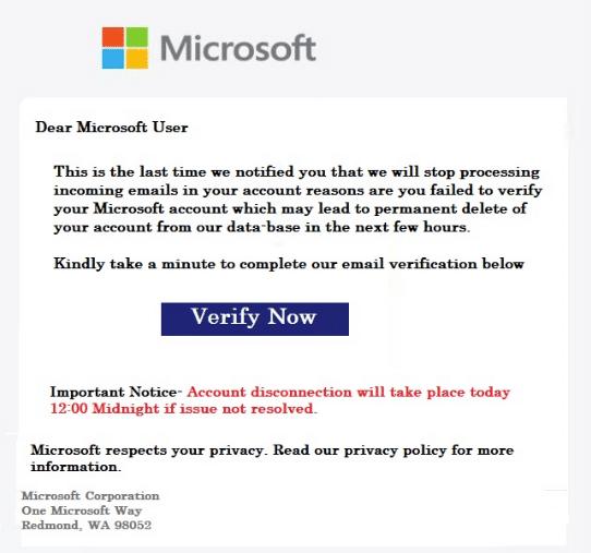 2021-01-15 Microsoft Spam Fake-Mail