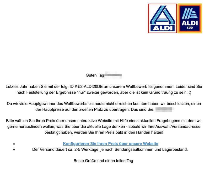 2021-01-24 Aldi Spam Fake-Mail