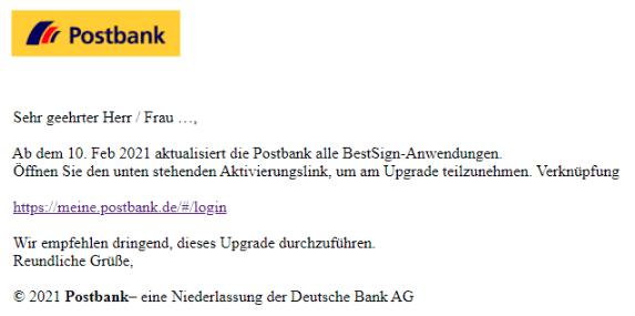 2021-02-07 Phishing Postbank