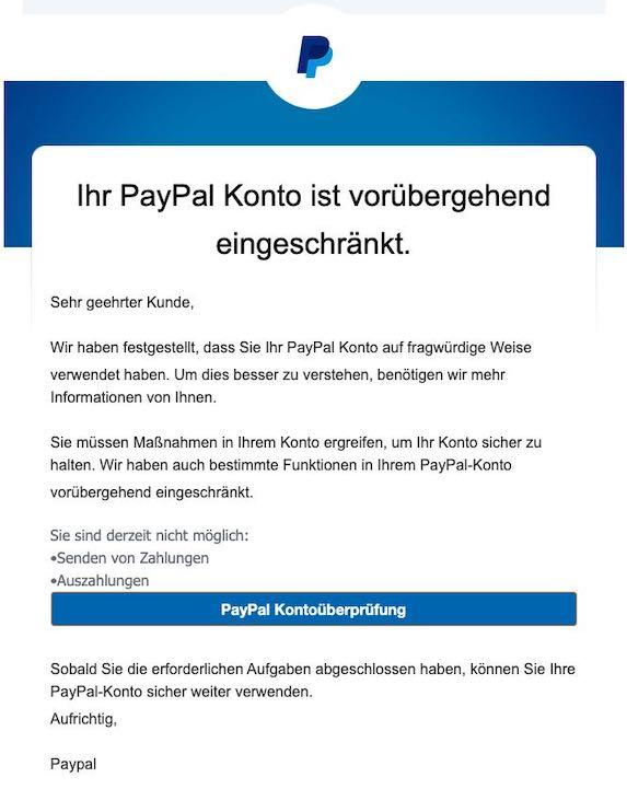 2021-01-05 PayPal Phishing
