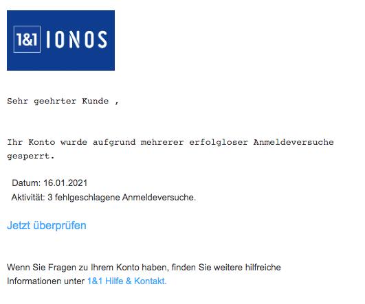 2021-01-16 Spam Fake-Mail IONOS