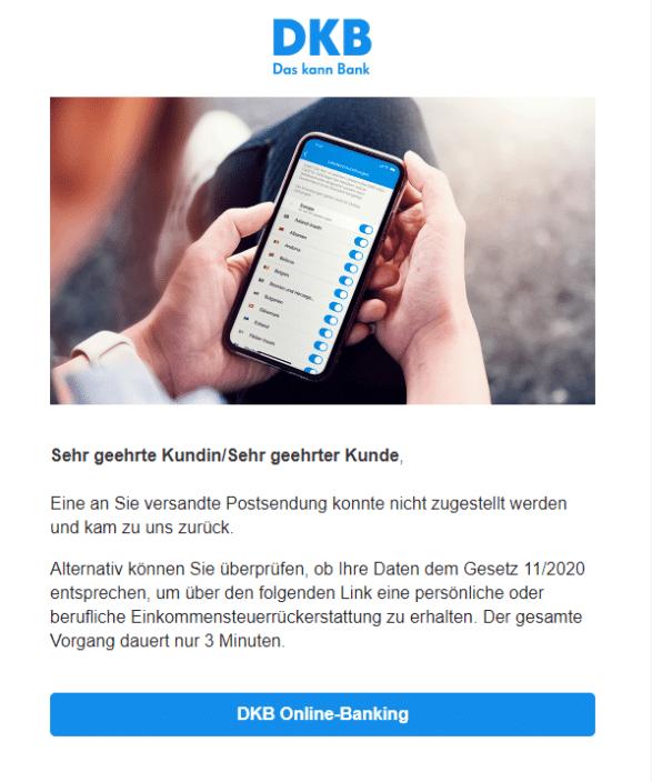 2021-01-21 DKB Spam Phishing-Mail