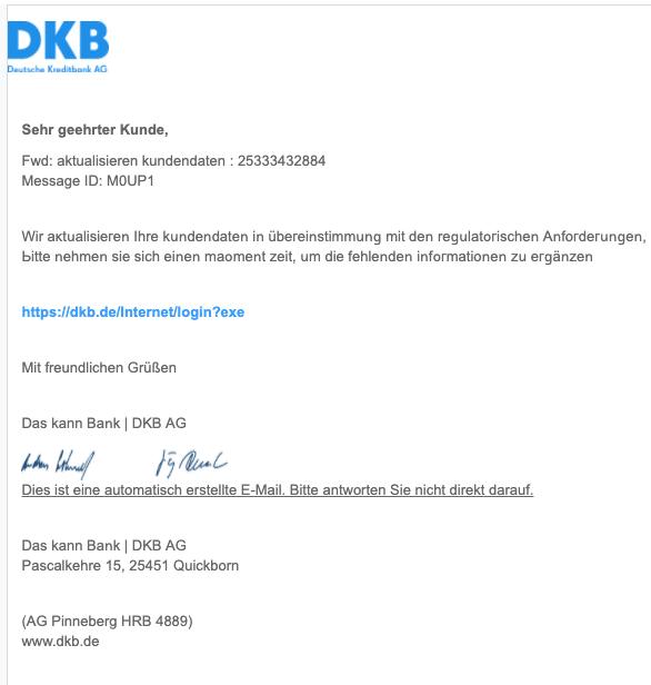 2021-01-22 Spam Fake-Mail DKB
