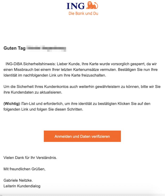 2021-01-24 ING DIba Spam Phishing