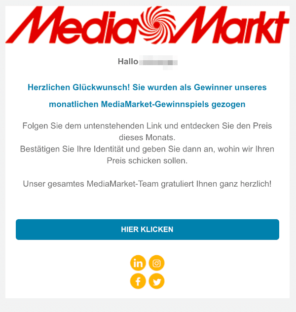 2021-01-31 Media Markt Spam Fake-Mail