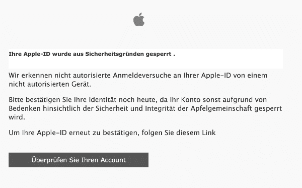 2021-02-01 Apple Spam Fake-Mail