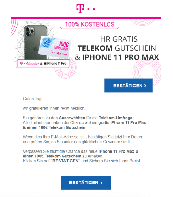 2021-02-02 Telekom Spam Fake-Mail