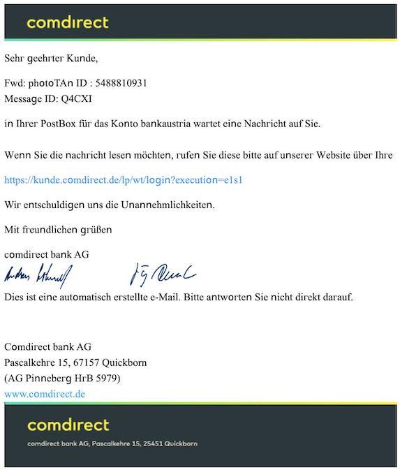 2021-02-08 Comdirect Spam